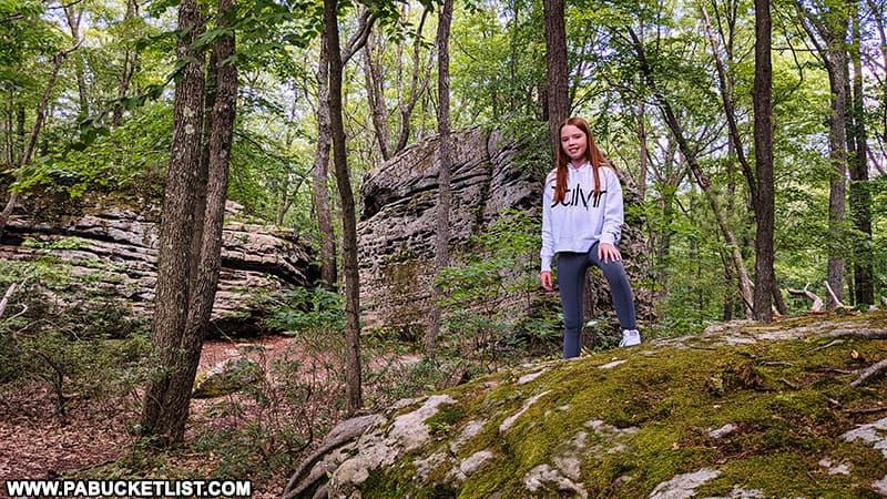 Exploring Beartown Rocks in Jefferson County, Pennsylvania.