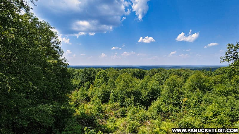 The view from the Beartown Rocks Overlook in Jefferson County, Pennsylvania.