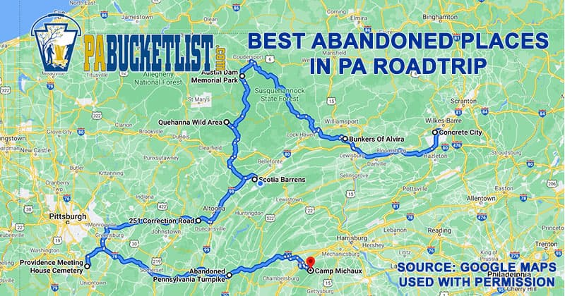 a road map to 9 of the best abandoned places in Pennsylvania.