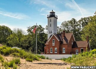 Exploring th ethree historic lighthouses in Erie Pennsylvania.