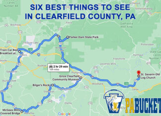 A roadmap to six of the best things to see in Clearfield County, PA