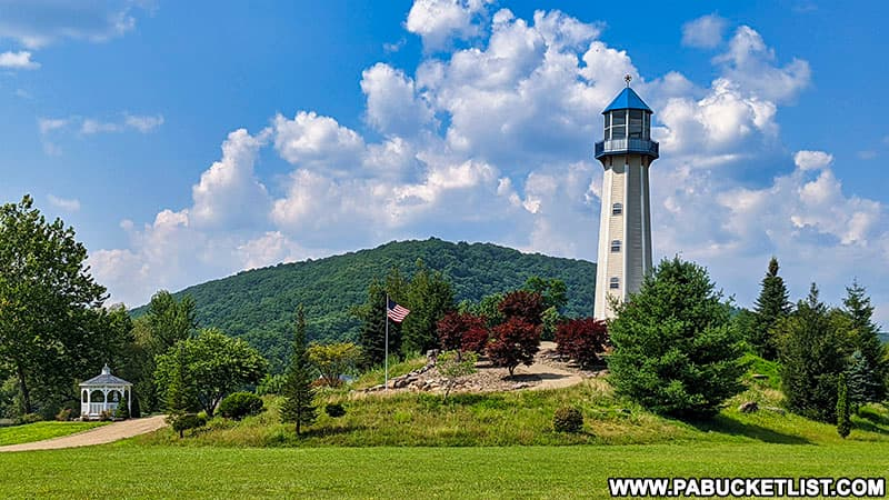 Exploring the Tionesta Lighthouse in Forest County Pennsylvania.