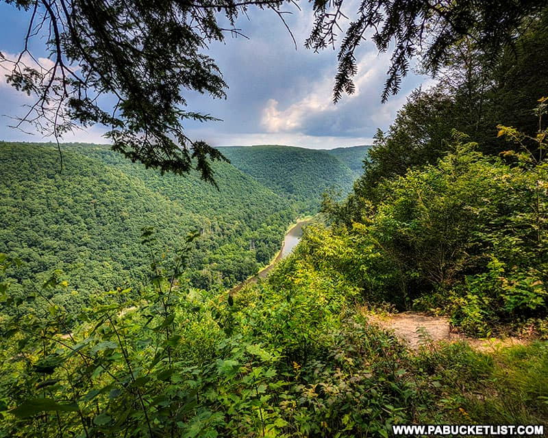 View to the south from the Bradley Wales Overlook near Wellsboro, PA.
