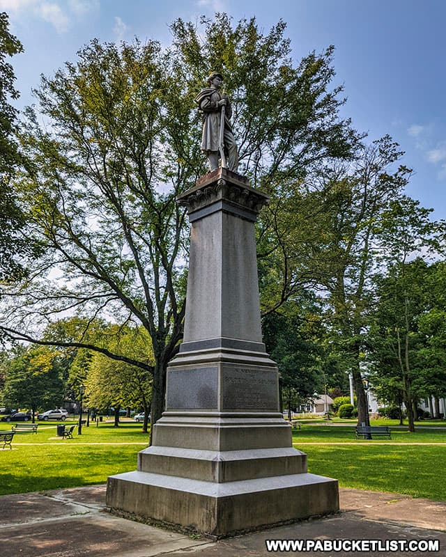 Civil War Memorial on the Green in downtown Wellsboro, PA.