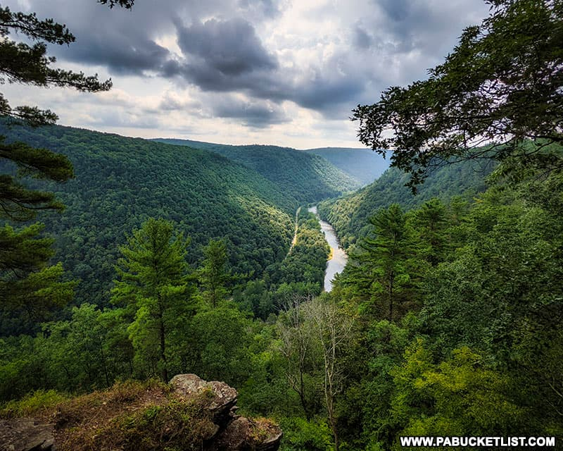 View of the PA Grand Canyon to the south from Colton Point State Park near Wellsboro, PA.