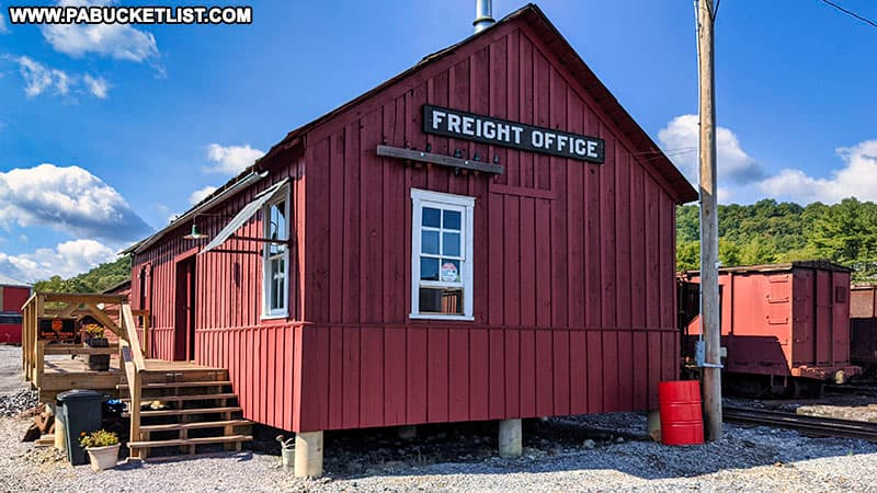 The Freight Office at the East Broad Top Railroad.