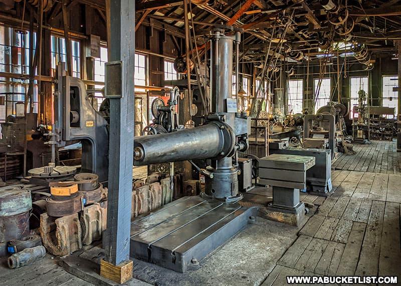 The East Broad Top Railroad machine shop.