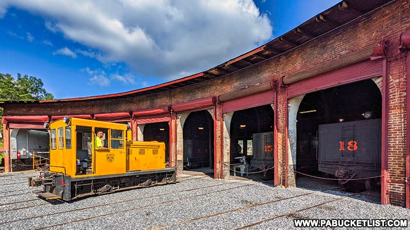 The East Broad Top Railroad roundhouse.