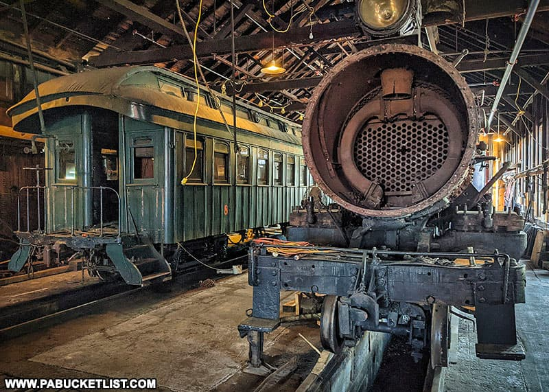 Inside the East Broad Top Railroad machine shops.
