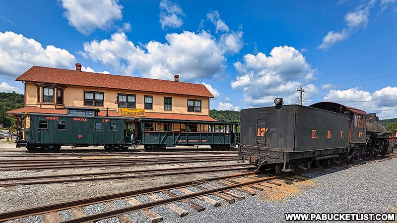 Engine Number 17 in front of the East Broad Top Train Station in Huntingdon County, PA.