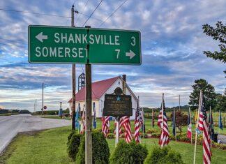 The Flight 93 Memorial Chapel 3 miles outside of Shanksville, PA.