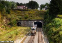 The Gallitzin Tunnels in downtown Gallitzin, Pennsylvania.