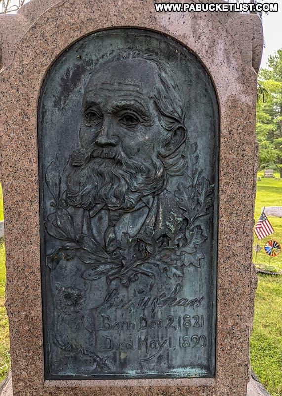 Headstone at Nessmuk's grave in Wellsboro Cemetery.