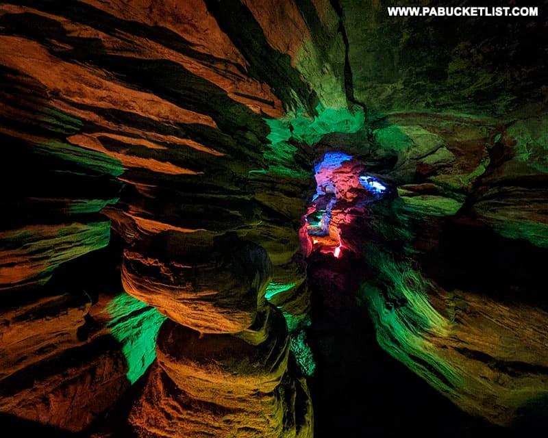 Pillar Rock inside Laurel Caverns.