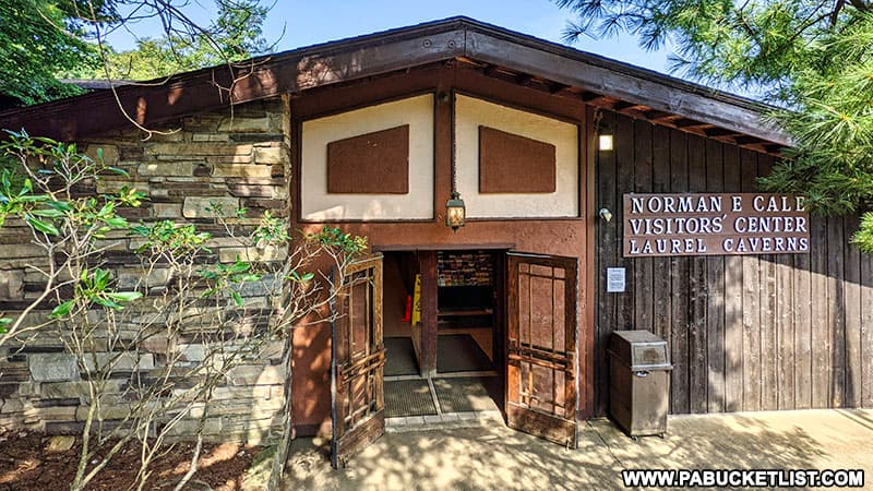 The Visitors Center at Laurel Caverns in the PA Laurel Highlands.
