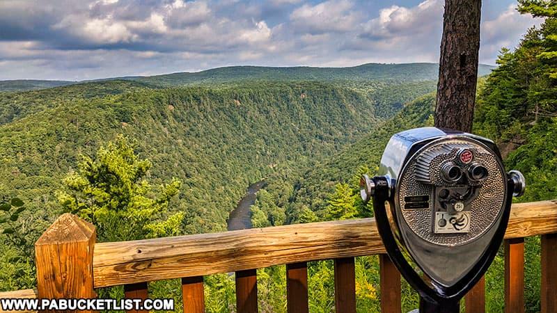One of the scenic overlooks at Leonard Harrison State Park near Wellsboro.