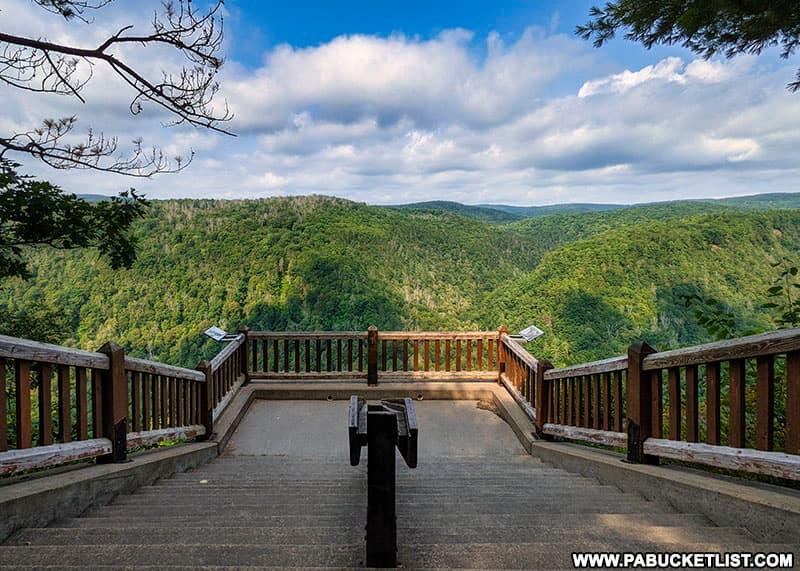 One of the Pine Creek Gorge overlooks at Leonard Harrison State Park near Wellsboro.