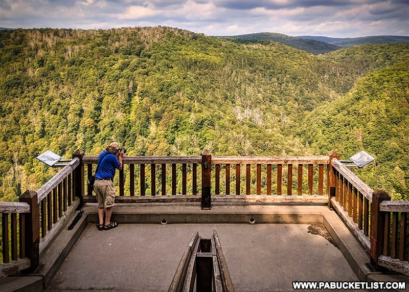 One of the many viewing areas at Leonard Harrison State Park near Wellsboro, PA.