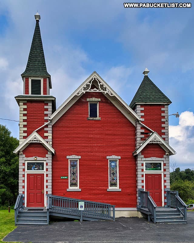 "The ""Red Church"" near Wellsboro, PA."