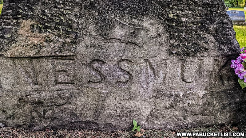 Nessmuk's tombstone in the Wellsboro Cemetery.