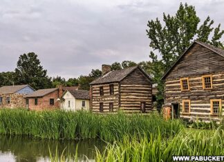 Visiting Old Bedford Village in Bedford County Pennsylvania.