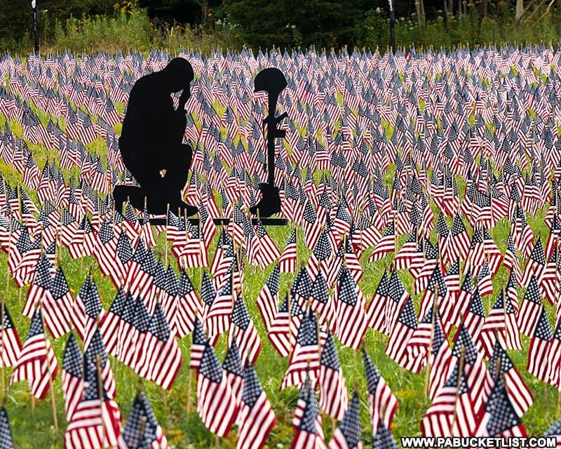 The Field of Heroes at Patriot Park near Shanksville. Pennsylvania.