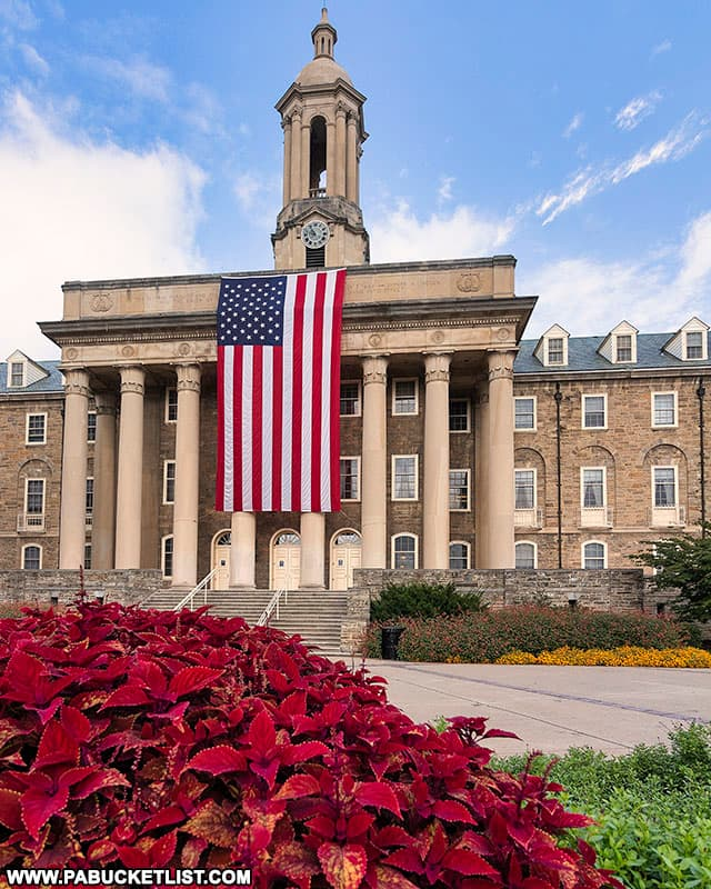 Old Main at Penn State on September 9, 2021.