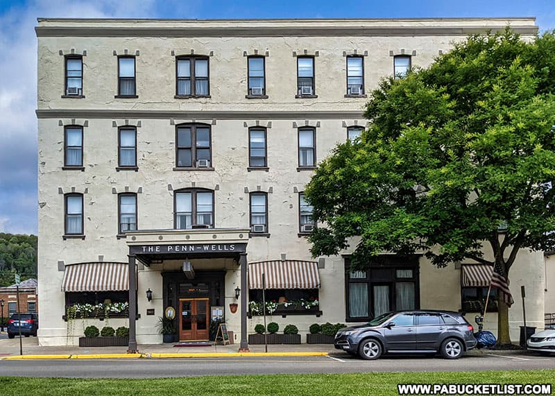 The Penn-Wells Hotel in downtown Wellsboro was built in 1869.