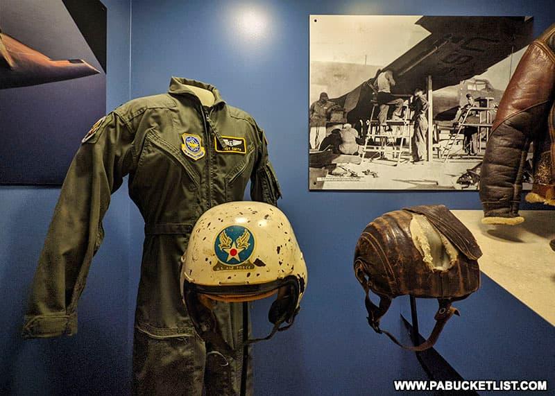 Air Force memorabilia at the Pennsylvania Military Museum.