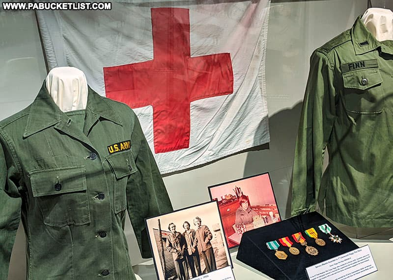 Women in the Army exhibit at the Pennsylvania Military Museum.