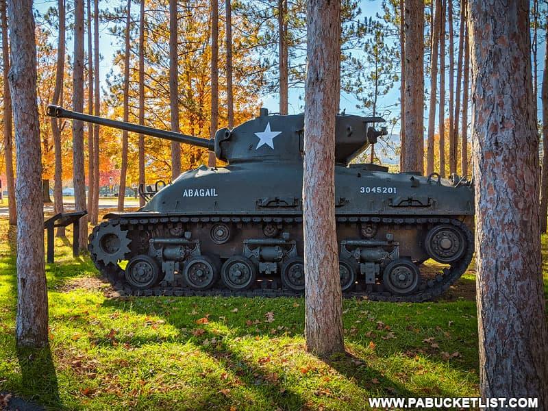 M4 Sherman Tank at the Pennsylvania Military Museum.