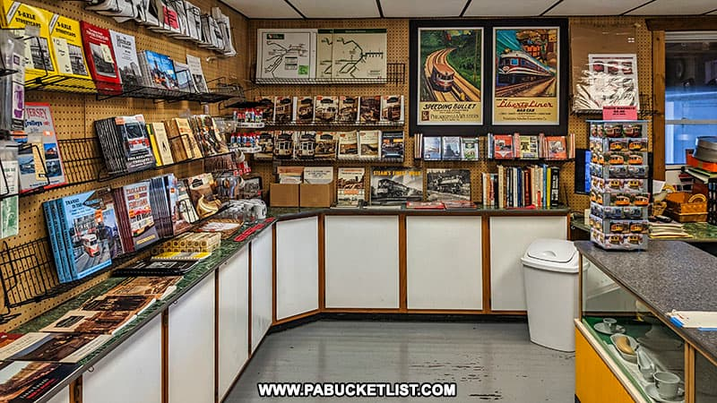 Gift shop at the Rockhill Trolley Museum.