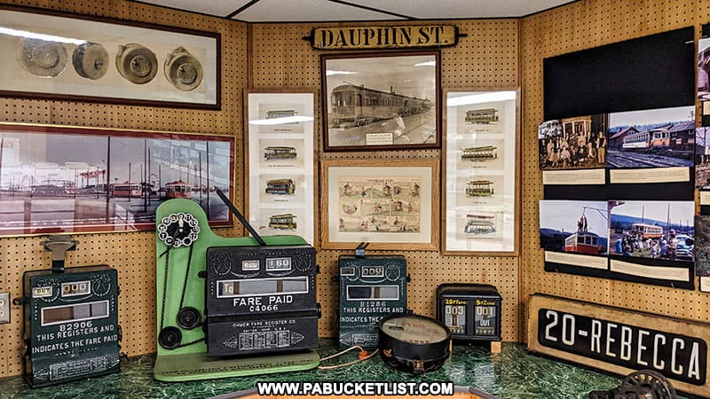 A display inside the Rockhill Trolley Museum.