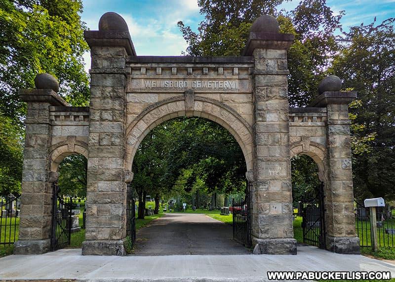 Gates of the Wellsboro Cemetery.