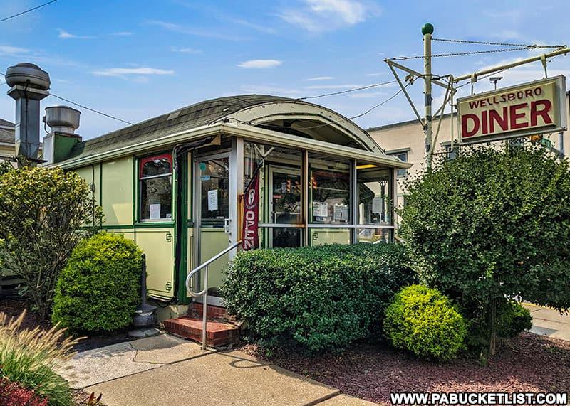 The Wellsboro Diner in downtown Wellsboro, PA.