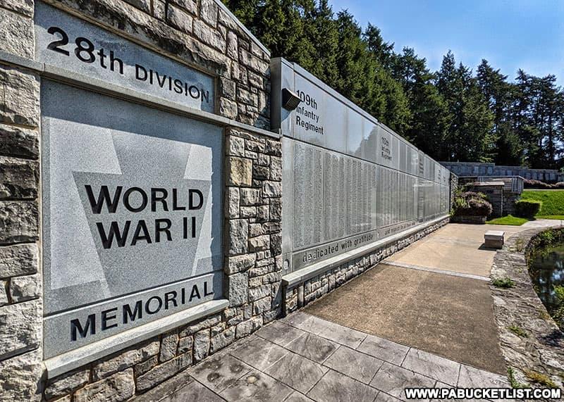 World War II Memorial at the Pennsylvania Military Museum.