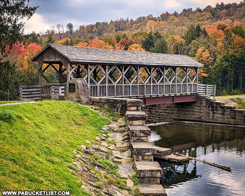 The Eric Benjamin Covered Bridge along the Marilla Bridges Trail in McKean County.