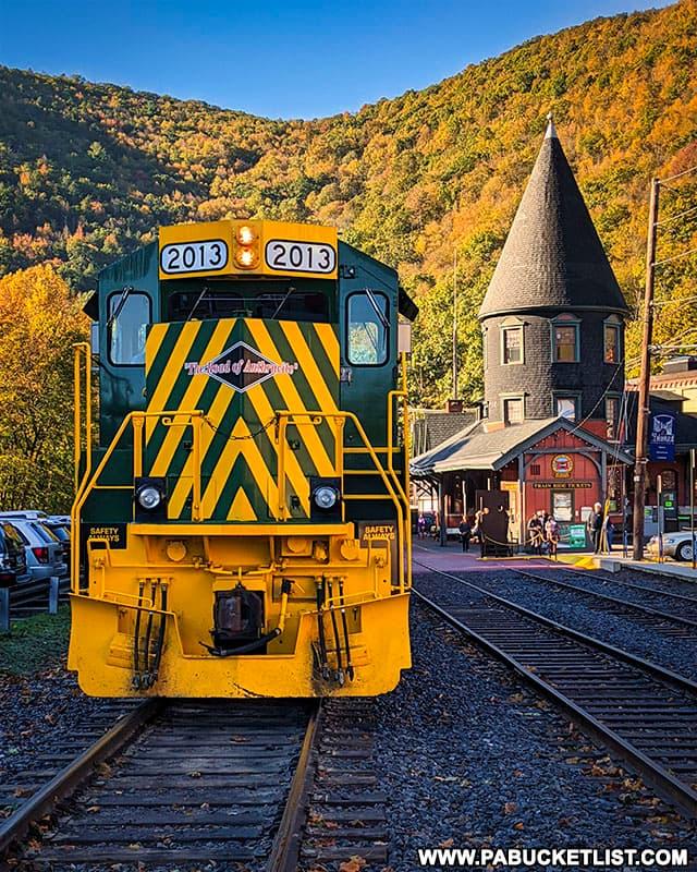 The Lehigh Gorge Scenic Railway in Jim Thorpe, PA.